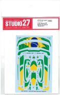 "DC1237 1/24 Senna XP Dress Up decal ""Brazil""#1 (T社1/24McLarenSenna対応)"
