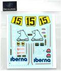 DP168 1/12 Yamaha YZR500 Iberna #15 A. Valesi WGP '88  (DECAL POOL)