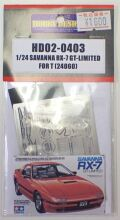 HD02-0403 1/24 SAVANNA RX-7GT-LIMITED (ForT)  Hobbydesign