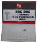 HD07-0087 φ1mm Rivets For1/12 motorcycle Body(20PCS) 【HOBBY DESIGN】