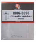 HD07-0095 φ1.0mm Flat head rivets (20pcs)