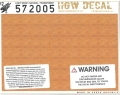 hgw572005 木目デカール ライトウッド 透明地 A5サイズ