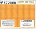 hgw572008 木目デカール 松材(黄色)透明地 A5サイズ