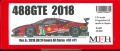 K681【Ver.A】 Ferrari 488 GTE 2018  1/24scale Proportion Kit