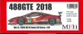 K682【Ver.B】 Ferrari 488 GTE 2018  1/24scale Proportion Kit