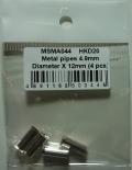 msma044  メタルパイプ (マフラー エンドパイプ) φ4.9mm X 12mm 4本入