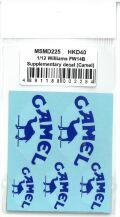 msmd225  1/12 Williams FW14B Supplementary decal (Camel)(MSMcreation)