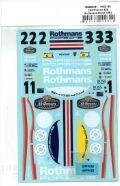msmd261 1/24 Posche 956 Rothmans Sponsor Decal 1983 (MSMcreation)