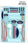 msmd262 1/24 Posche 962 Rothmans Sponsor Decal 1986 (MSMcreation)