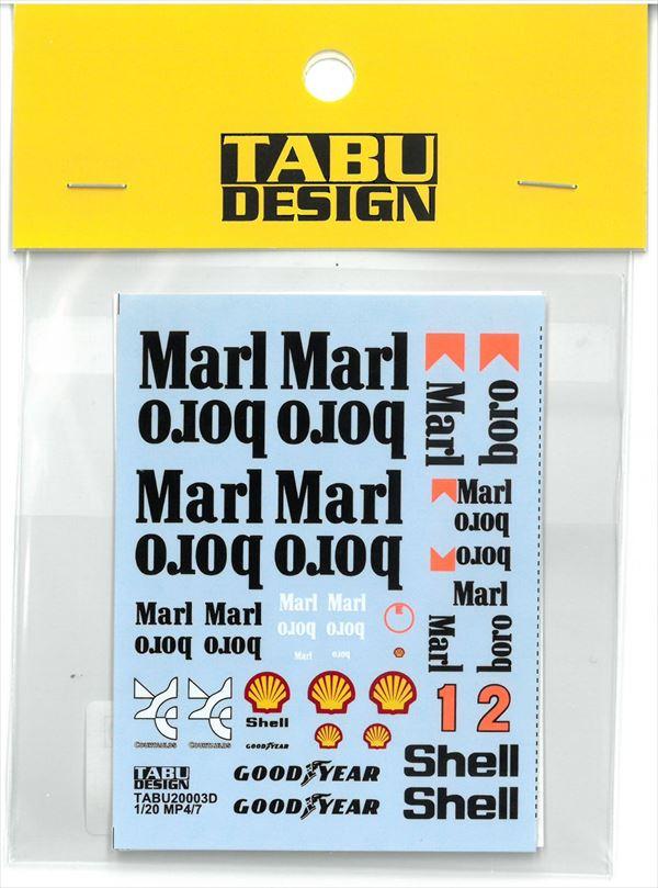 TABU20003D 1/20 MP4/7  Option (T社1/20対応)