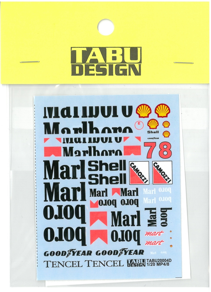 TABU20004D 1/20 MP4/8  option ((T社対応)