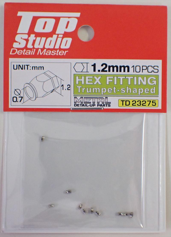 tops-td23275 1.2mm 10PCS HEX FITTING Trumpet-shaped(10PCS) (トップスタジオ)