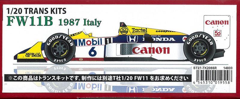 TK2066R    FW11B  1987  Italy 1/20 TRANS KITS  (T社1/20FW11)