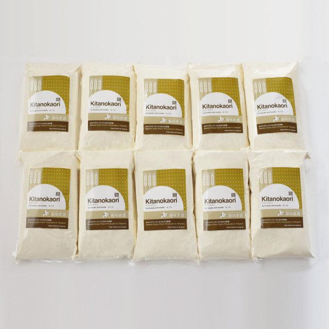 【送料込】【前田農産の十勝・ほんべつ町産100%小麦粉】きたほなみ1KG 10袋セット