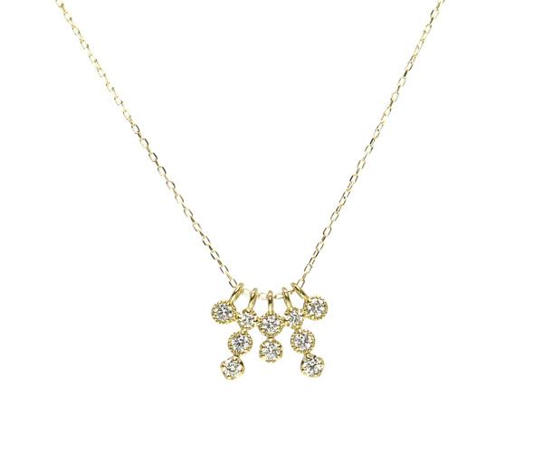 ダイヤモンド10石ネックレス