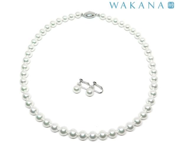 WAKANA8.0mmUPネックレスイヤリング