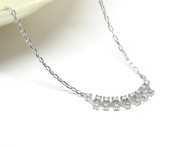 メレダイヤモンド16石ネックレス