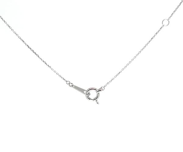 ダイヤモンド2点留め縦長ネックレス