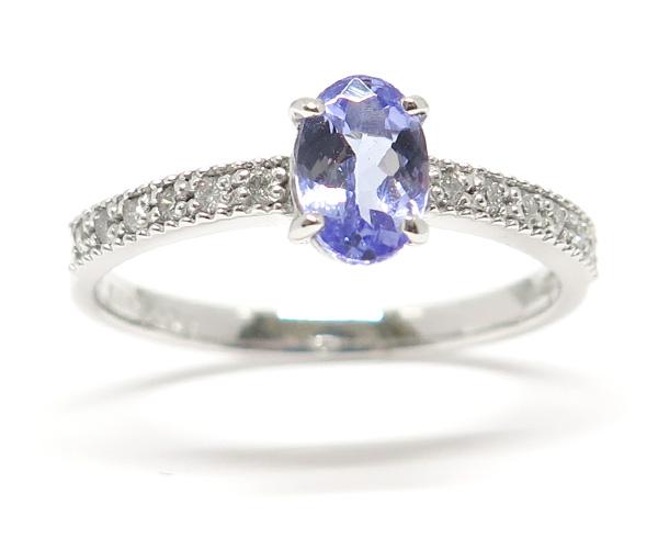 タンザナイト/ダイヤモンドリング