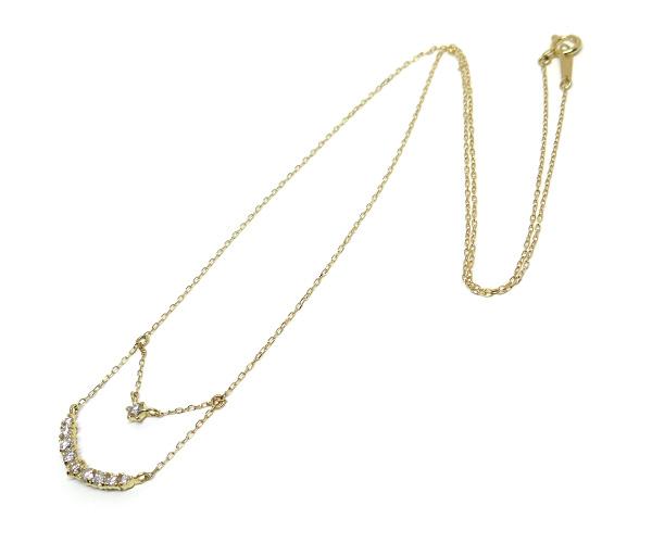 ダイヤ10石2連ネックレス