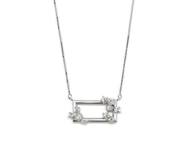 つや消しダイヤモンド10石ネックレス