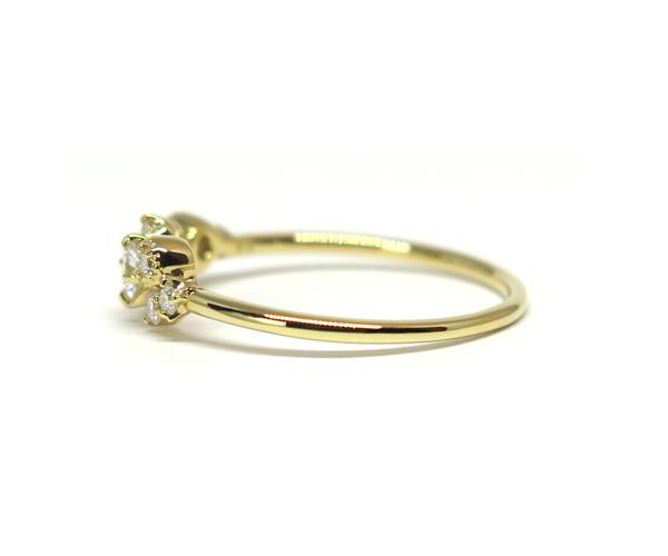 ダイヤ10石デザインリング