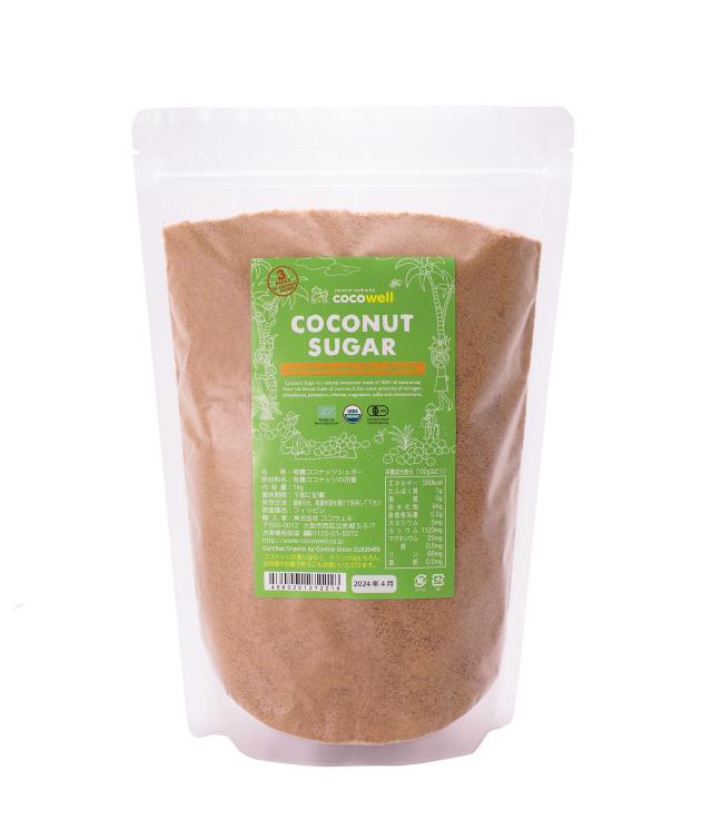 血糖値の上昇が緩やかで体への負担が少ない ココナッツシュガー 1kg  x 12 個/1ケース 送料無料+特別価格10%引き グループ買い、まとめ買い割安