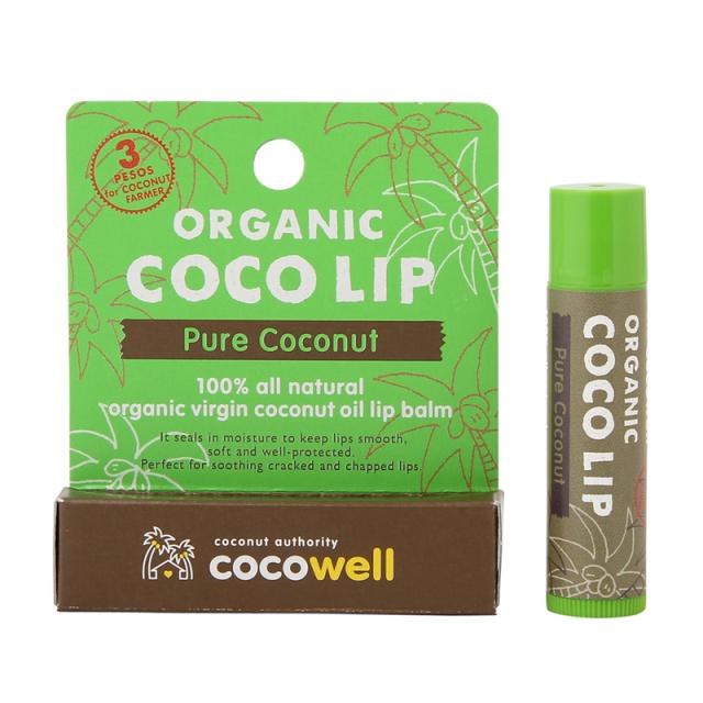 ココナッツ好きにはたまらない南国の香り オーガニックココリップ(ピュアココナッツ) x50 個/1ケース 送料無料+特別価格10%引き グループ買い、まとめ買い割安