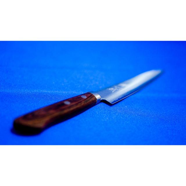 日本和包丁 ゴールド割込ペティナイフ Japanese Vgold petty knife 135mm 9