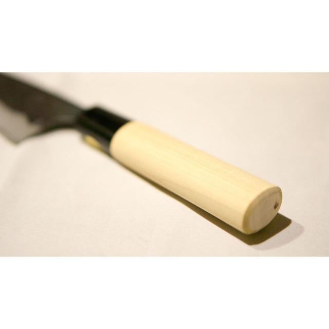 日本和包丁 薄出刃黒打ち アジ切り Japanese thin deba knife 120mm 5