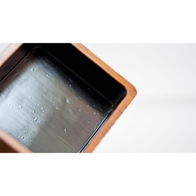手作り漆塗りバターケース小9x9x5.5cm 4