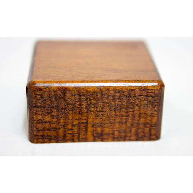 手作り漆塗りバターケース小9x9x5.5cm 6