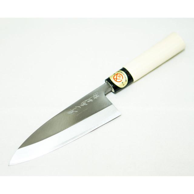 日本和包丁 左用出刃 安来黄5寸(150mm) Japanese deba knife lefty 150mm 1