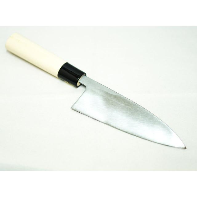 日本和包丁 左用出刃 安来黄5寸(150mm) Japanese deba knife lefty 150mm 2