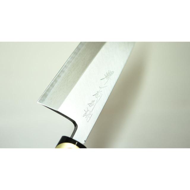 日本和包丁 左用出刃 安来黄5寸(150mm) Japanese deba knife lefty 150mm 4