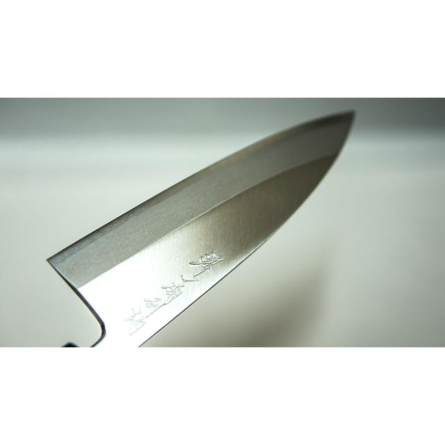 日本和包丁 左用出刃 安来黄5寸(150mm) Japanese deba knife lefty 150mm 7