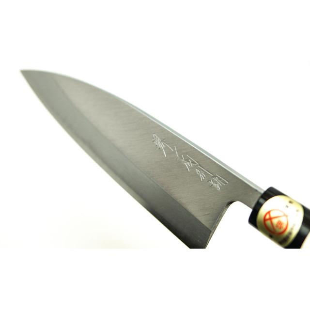 日本和包丁 左用出刃 安来黄5寸(150mm) Japanese deba knife lefty 150mm 8
