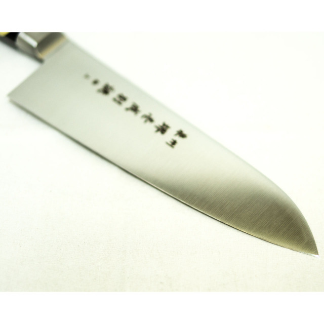 日本和包丁 モリブデン三徳万能 極上 Japanese molybdenum santoku knife 180mm 2