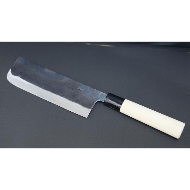 日本和包丁 黒打ち菜切り包丁5.5寸 Japanese nakiri knife 165mm 2