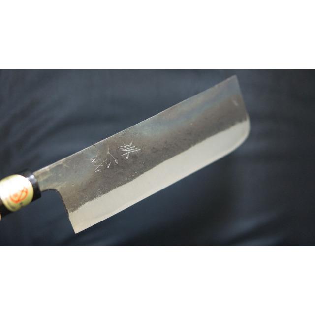 日本和包丁 黒打ち菜切り包丁5.5寸 Japanese nakiri knife 165mm 3