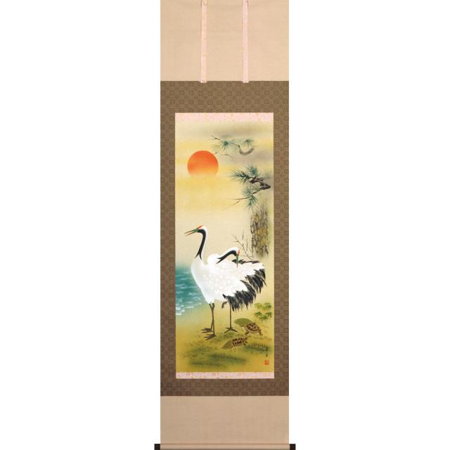 A7207 松竹梅鶴亀  尺五立 作者 神山希麗