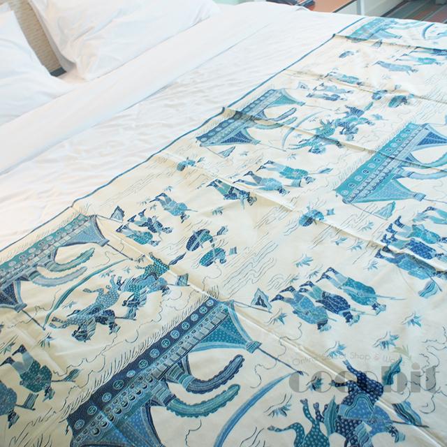 インドネシア地方 ジャワ島 バリ島 高級民芸品 コットンバチック 生地 手作り品 実歴史柄 画像1