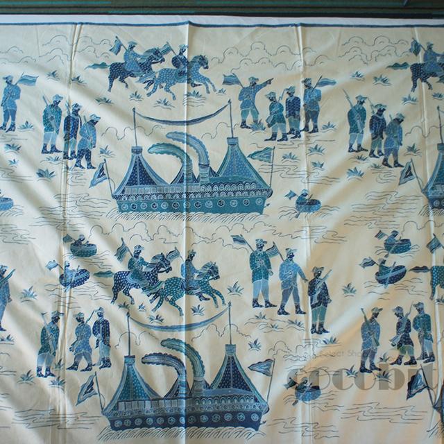 インドネシア地方 ジャワ島 バリ島 高級民芸品 コットンバチック 生地 手作り品 実歴史柄 画像3