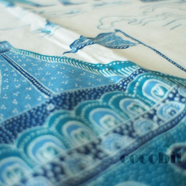 インドネシア地方 ジャワ島 バリ島 高級民芸品 コットンバチック 生地 手作り品 実歴史柄 画像5
