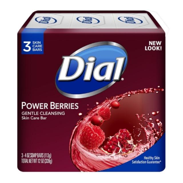 Dial Bar Soap Power Berries ダイアル 固形スキンケア石鹸 パワーベリーズ 113g×3個 セット