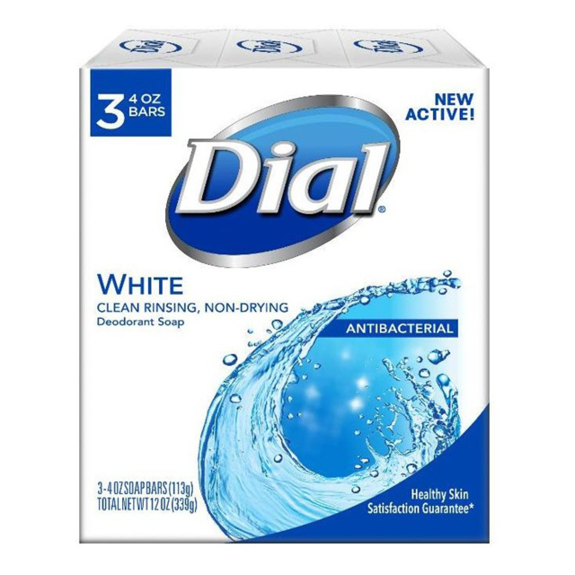 Dial Bar Soap WHITE ダイアル 固形デオドラント石鹸 ホワイト 113g×3個 セット