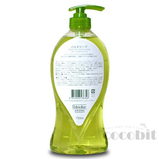 Palmolive/パルモリーブ AROMA Therapy Morning Tonic/モーニングトニック Shower Gel 750ml 背面