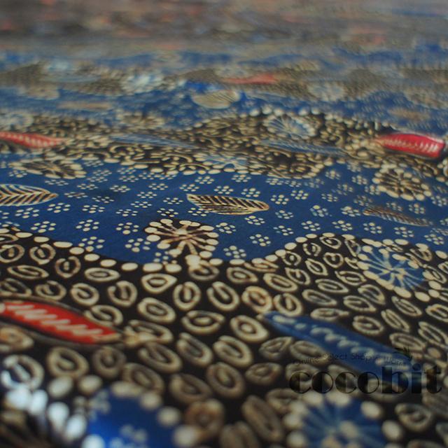 インドネシア ジャワ島バリ島 シルク生地バティック 商品画像1