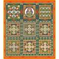 工芸色紙,両界曼荼羅,色紙,金剛,胎蔵界