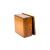 手作り漆塗りバターケース小9x9x5.5cm 13
